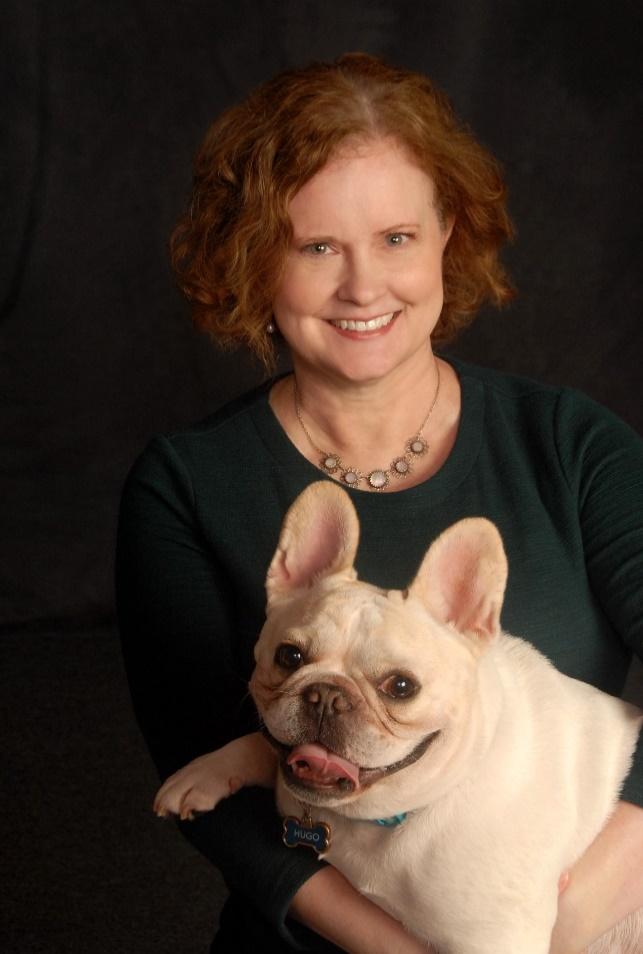 Author Elizabeth Verdick with her dog, Hugo