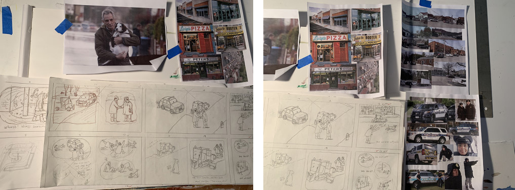 Sketches and inspiration for Small Walt Spots Dot - 2 photos