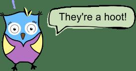 Cartoon Owl - They're a Hoot