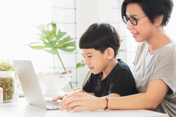 Screen time with children