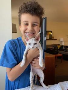 Lucas and kitten